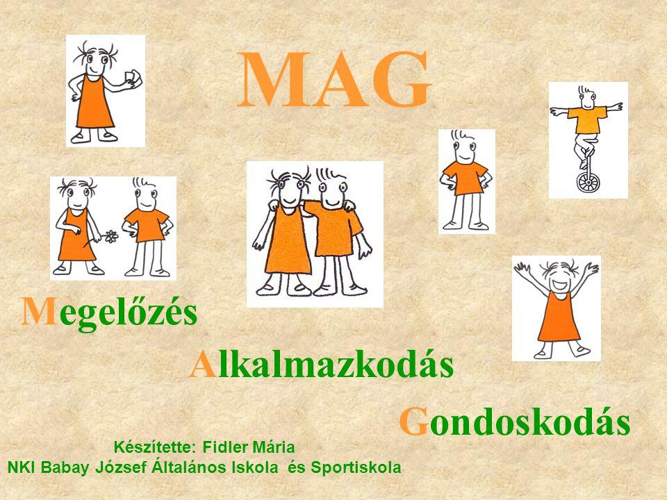 MAG Megelőzés Alkalmazkodás Gondoskodás Készítette: Fidler Mária NKI Babay József Általános Iskola és Sportiskola