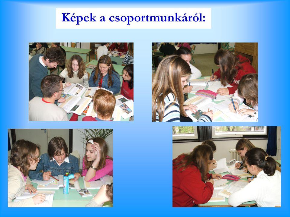 Képek a csoportmunkáról: