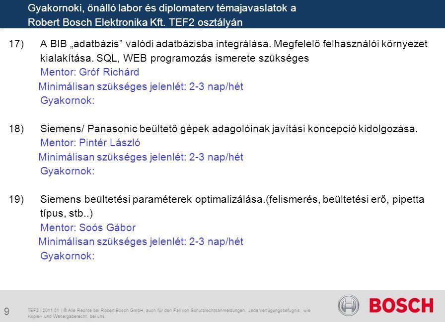 """17)A BIB """"adatbázis"""" valódi adatbázisba integrálása. Megfelelő felhasználói környezet kialakítása. SQL, WEB programozás ismerete szükséges Mentor: Gró"""