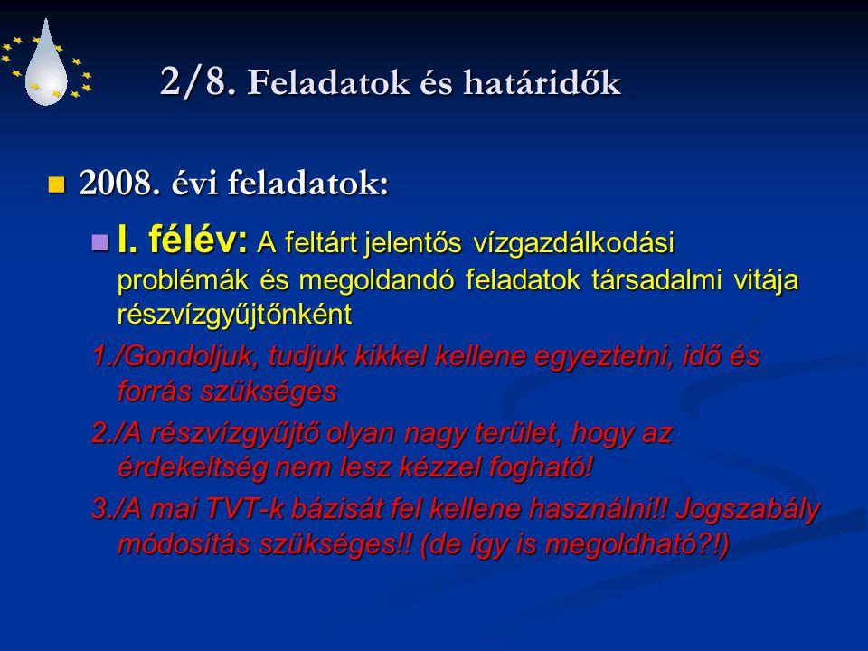 2/8.Feladatok és határidők 2008. évi feladatok: 2008.