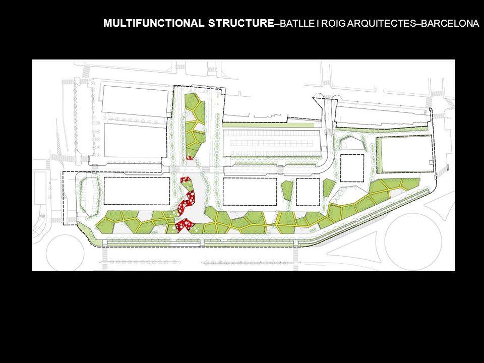 MULTIFUNCTIONAL STRUCTURE –BATLLE I ROIG ARQUITECTES–BARCELONA