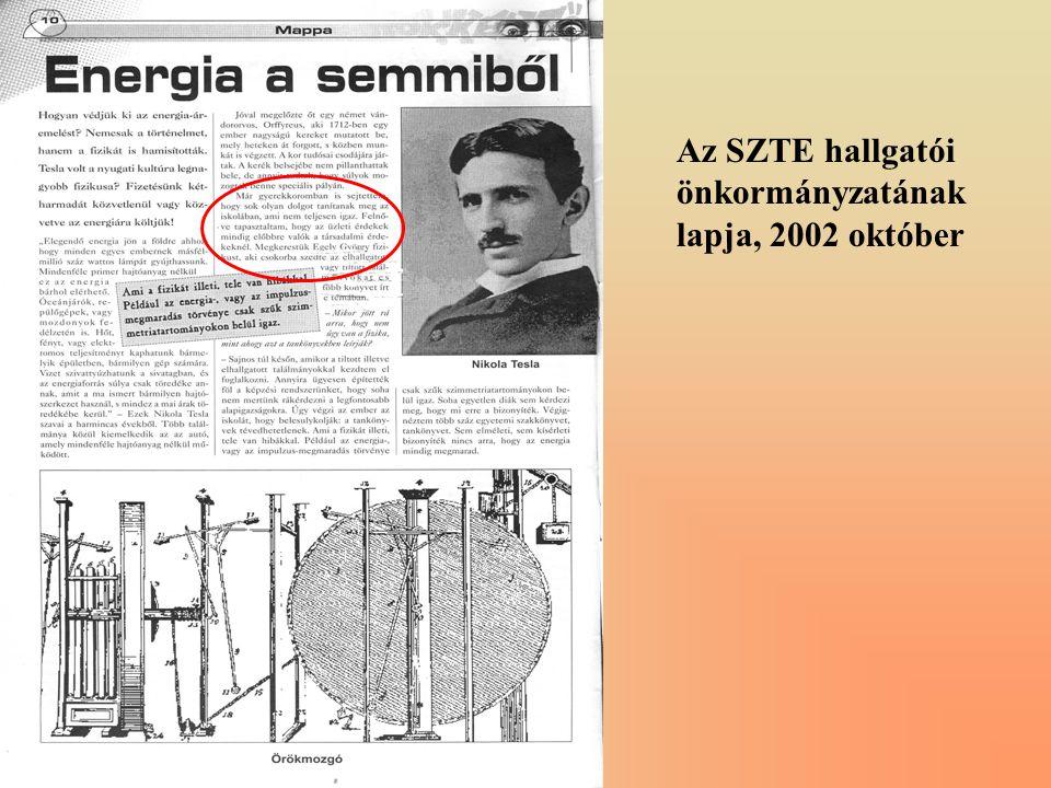 Az SZTE hallgatói önkormányzatának lapja, 2002 október