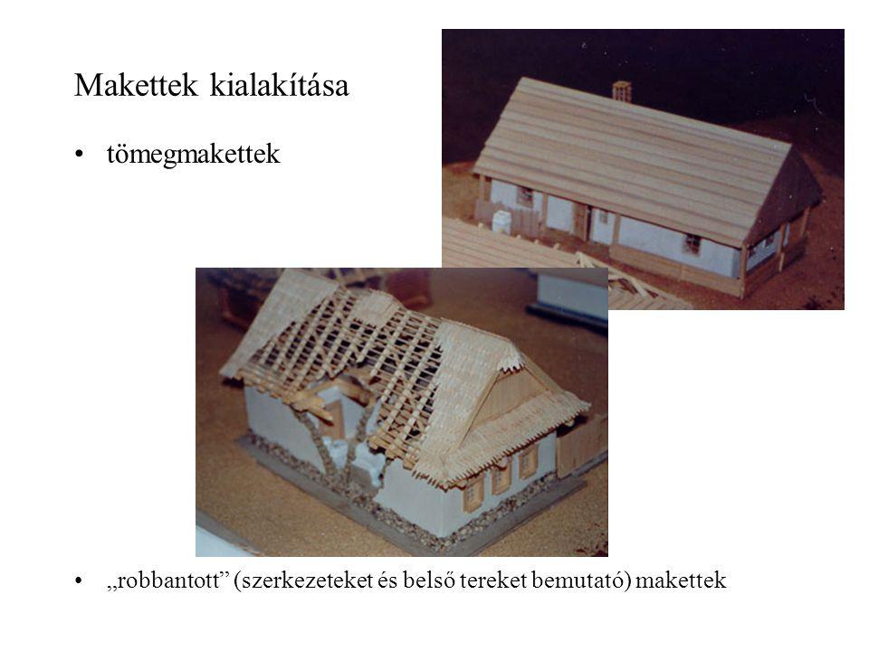 """Makettek kialakítása tömegmakettek """"robbantott"""" (szerkezeteket és belső tereket bemutató) makettek"""