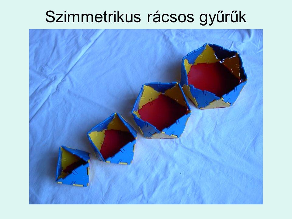 Szimmetrikus rácsos gyűrűk