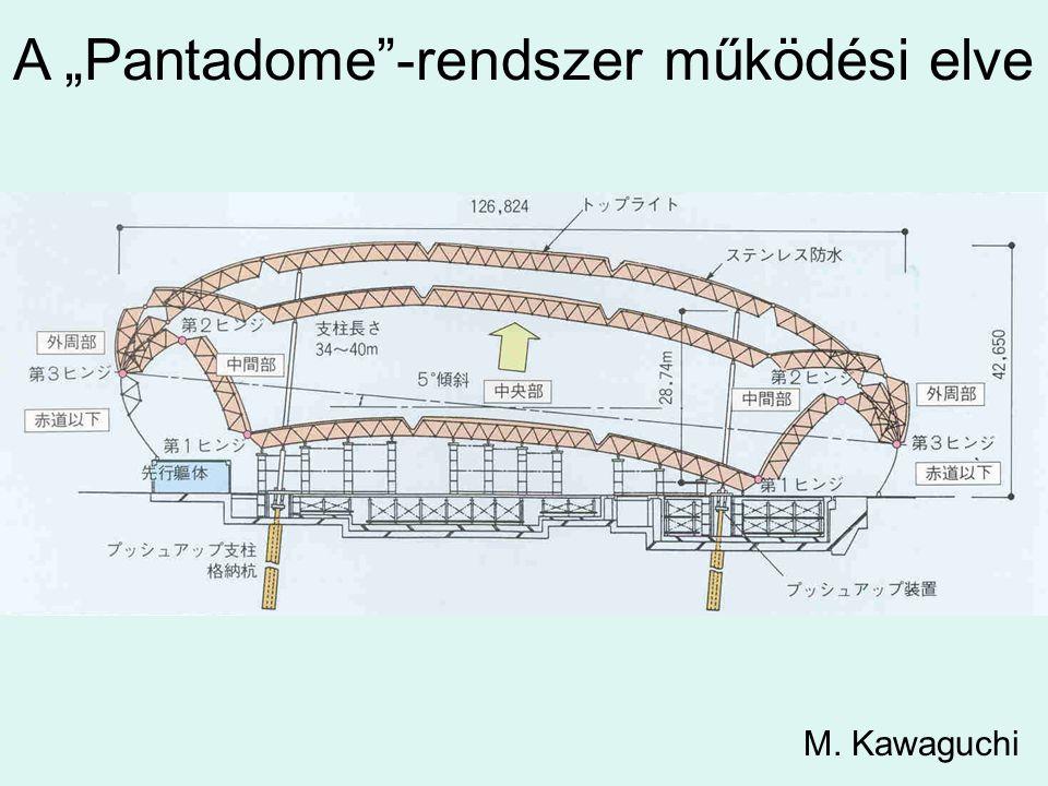 """A """"Pantadome""""-rendszer működési elve M. Kawaguchi"""