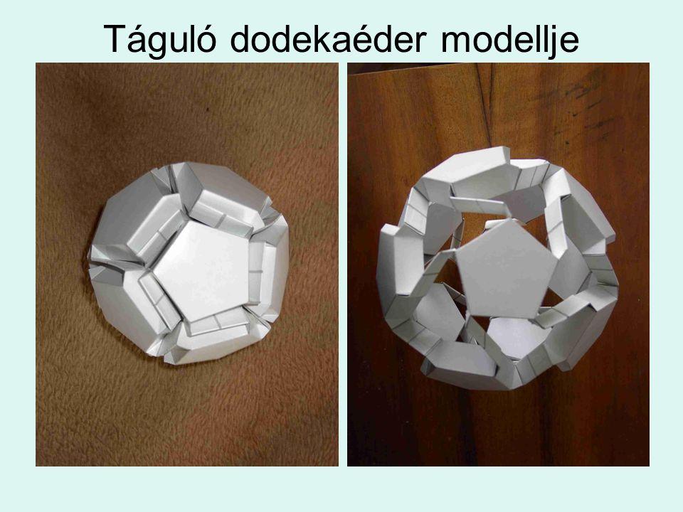 Táguló dodekaéder modellje