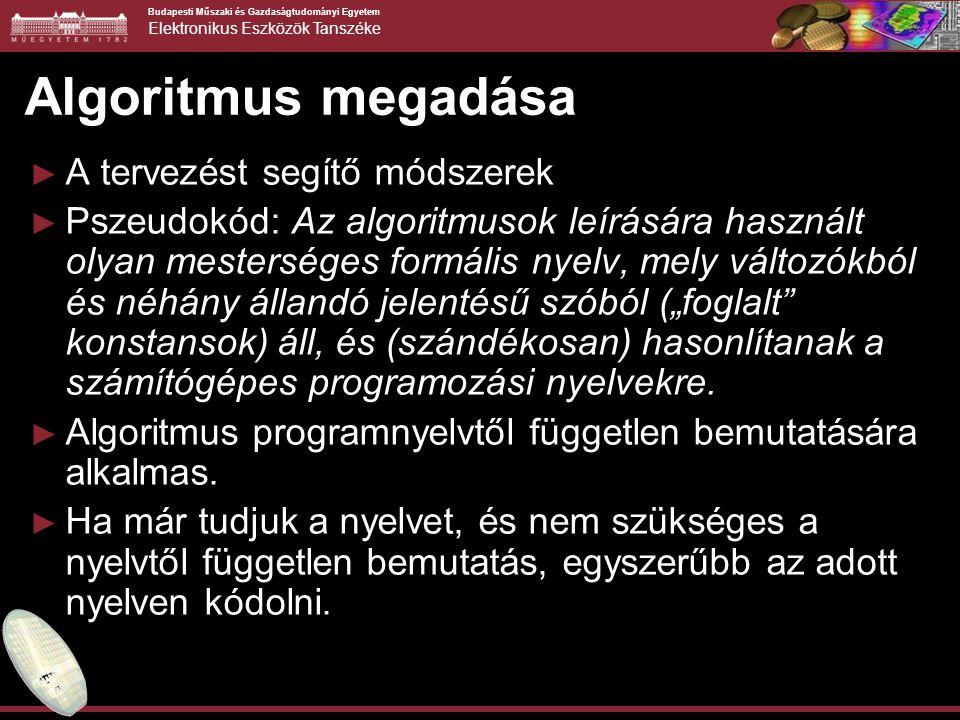 Budapesti Műszaki és Gazdaságtudományi Egyetem Elektronikus Eszközök Tanszéke A main