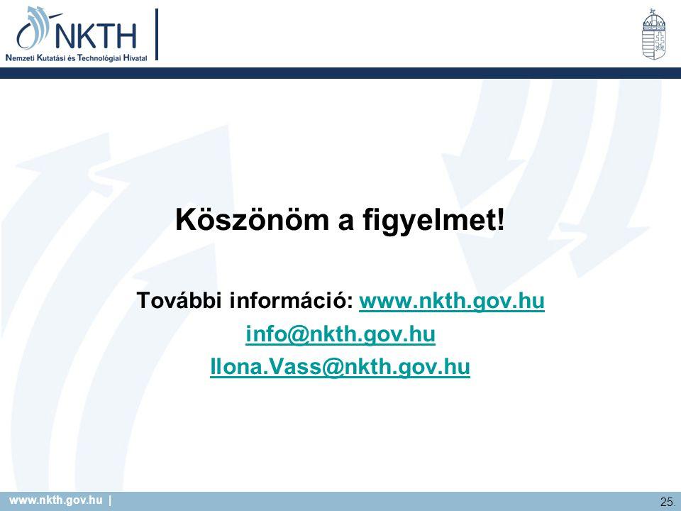 www.nkth.gov.hu | 25. Köszönöm a figyelmet.