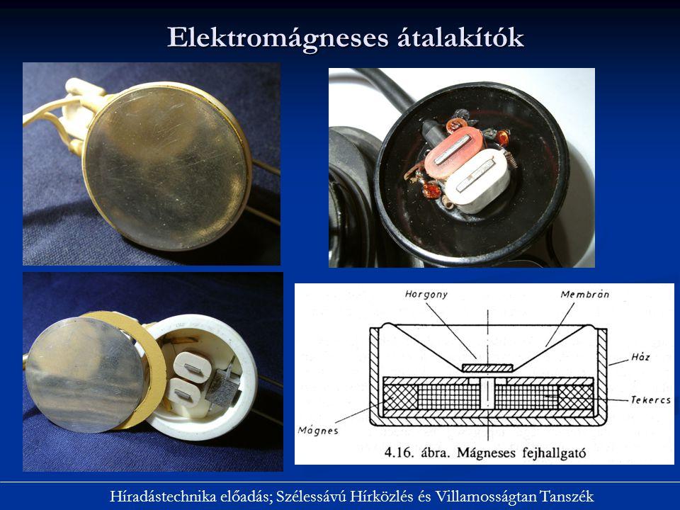 Elektromágneses átalakítók Híradástechnika előadás; Szélessávú Hírközlés és Villamosságtan Tanszék
