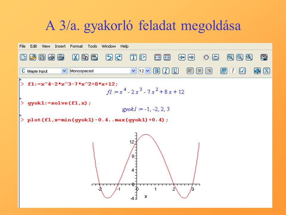 A 3/a. gyakorló feladat megoldása
