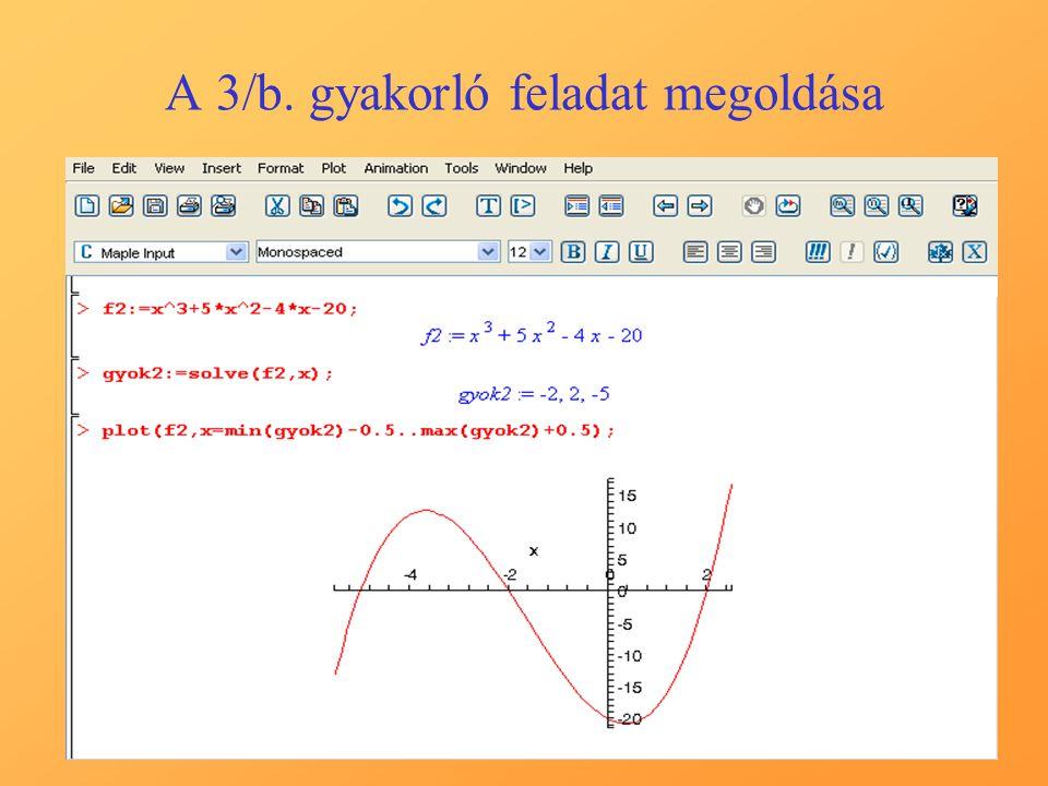 A 3/b. gyakorló feladat megoldása