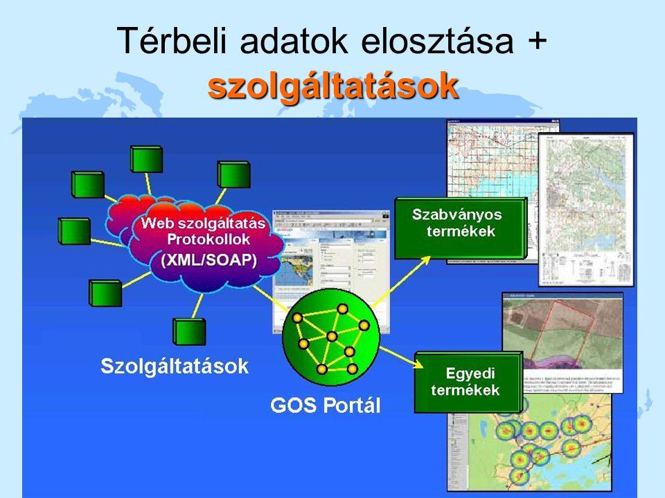 2004. 11. 16Sárközy F. A GIS fejlődés trendjei12 szolgáltatások Térbeli adatok elosztása + szolgáltatások