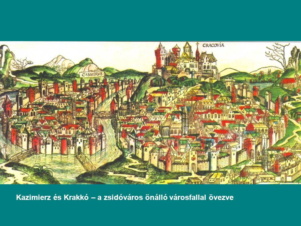 Kazimierz és Krakkó – a zsidóváros önálló városfallal övezve