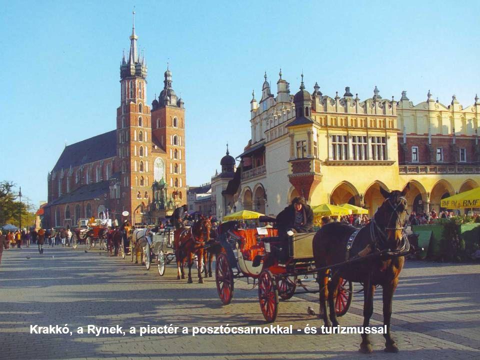 Krakkó, a Rynek, a piactér a posztócsarnokkal - és turizmussal
