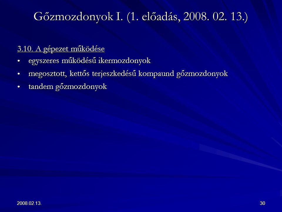 2008.02.13.30 Gőzmozdonyok I. (1. előadás, 2008. 02. 13.) 3.10. A gépezet működése egyszeres működésű ikermozdonyok egyszeres működésű ikermozdonyok m