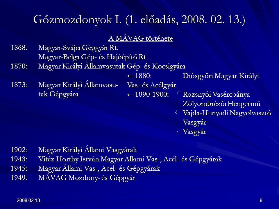 2008.02.13.19 Gőzmozdonyok I.(1. előadás, 2008. 02.