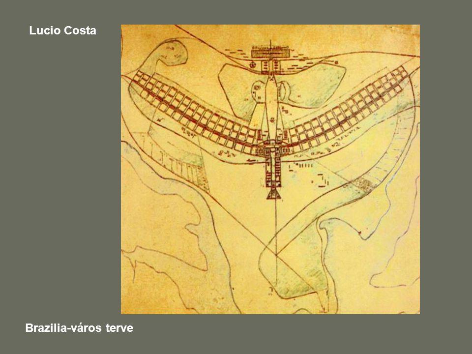 Lucio Costa Brazilia-város terve