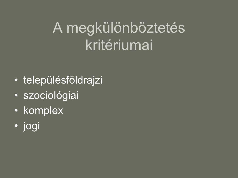 Vásárhely típusú településcsoportok Magyarországon