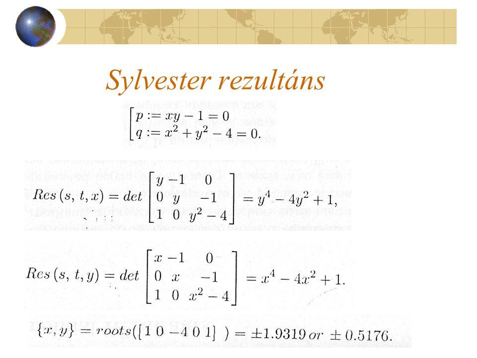 Sylvester rezultáns