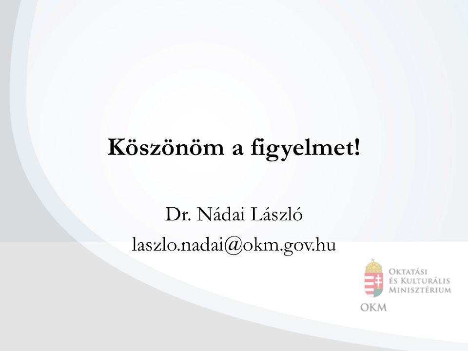 Köszönöm a figyelmet! Dr. Nádai László laszlo.nadai@okm.gov.hu
