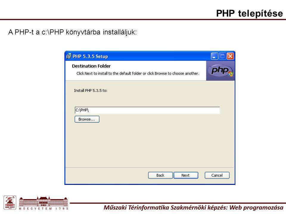 A fejlesztés lépései 1.lépés: Egy minta html oldal elkészítése (pl.