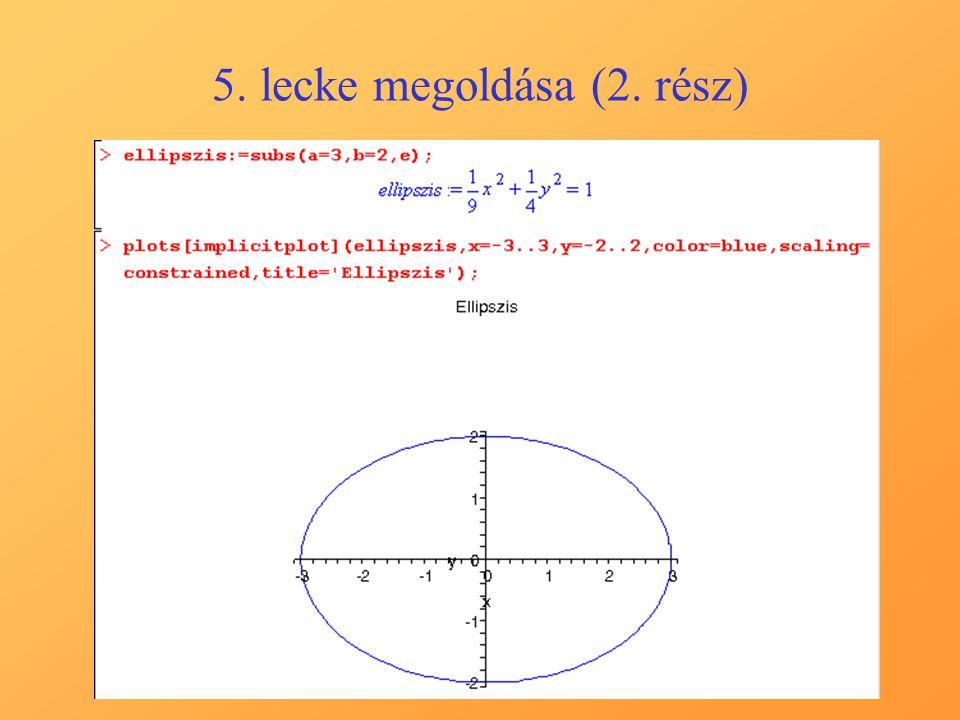 5. lecke megoldása (2. rész)