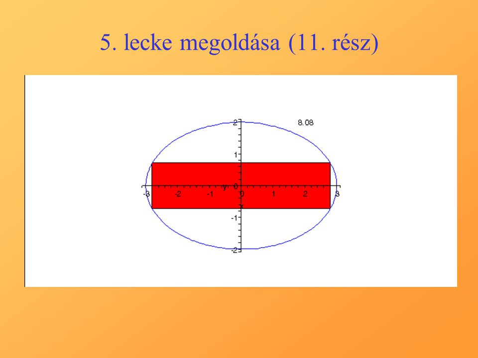5. lecke megoldása (11. rész)