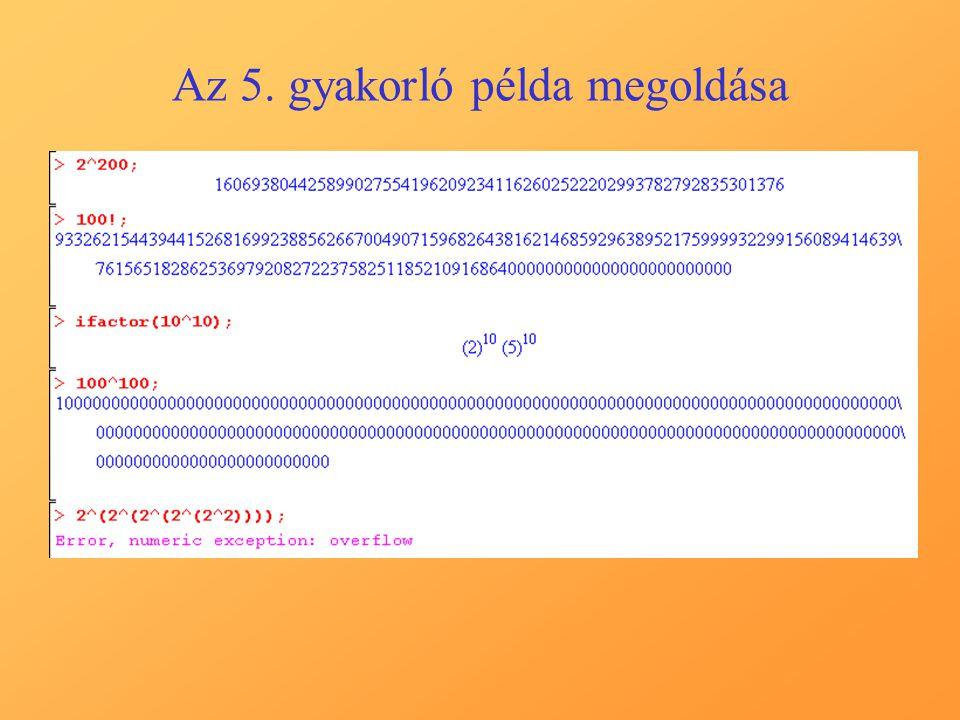 Vegyes gyakorló feladatok 8.feladat:Határozzuk meg az y=2*cos(Pi*x/6) függvény görbéjébe írható legnagyobb területű téglalapot.