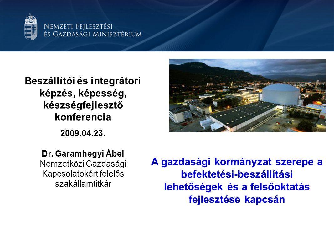 Beszállítói és integrátori képzés, képesség, készségfejlesztő konferencia 2009.04.23.