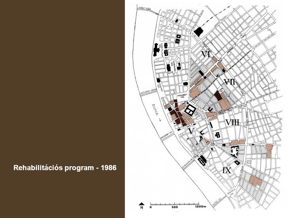 Középső Ferencváros rendezési tervtanulmány Városépítési Tanszék, 1983
