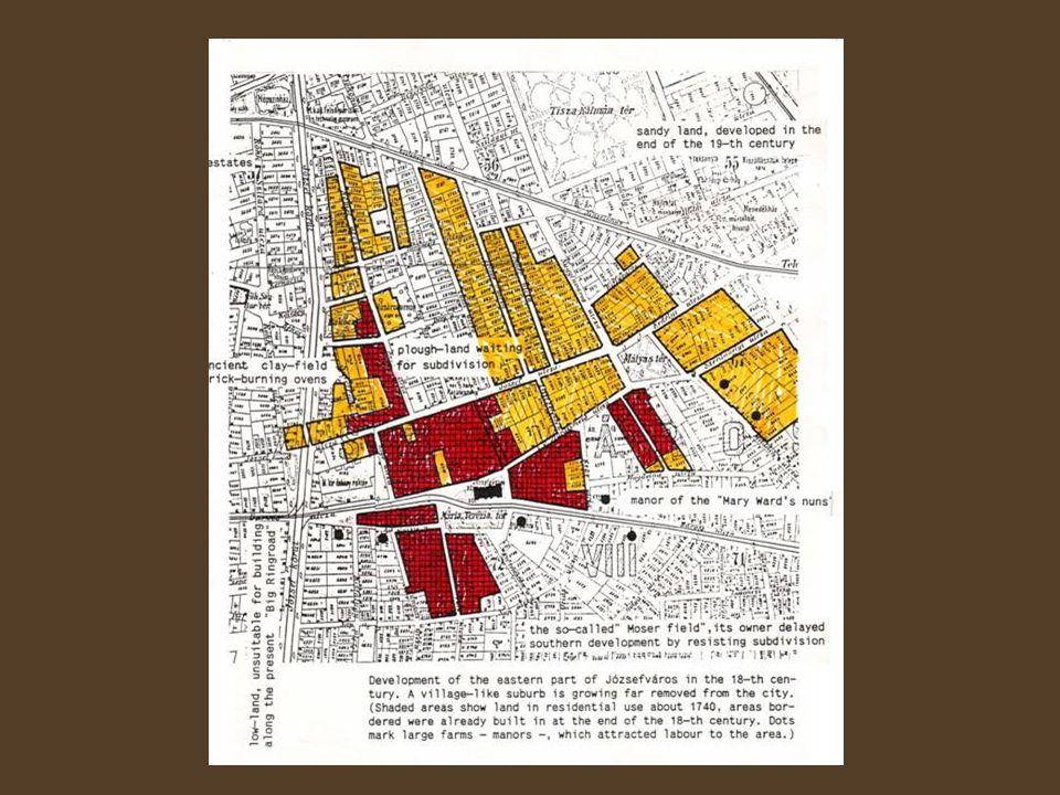 A várostervezés kezdetei Lipótváros, 1800-as évek eleje 1838-as árvíz