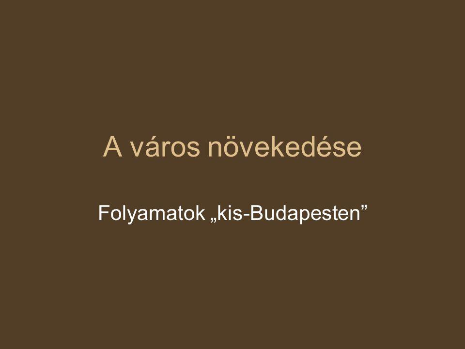 """A város növekedése Folyamatok """"kis-Budapesten"""
