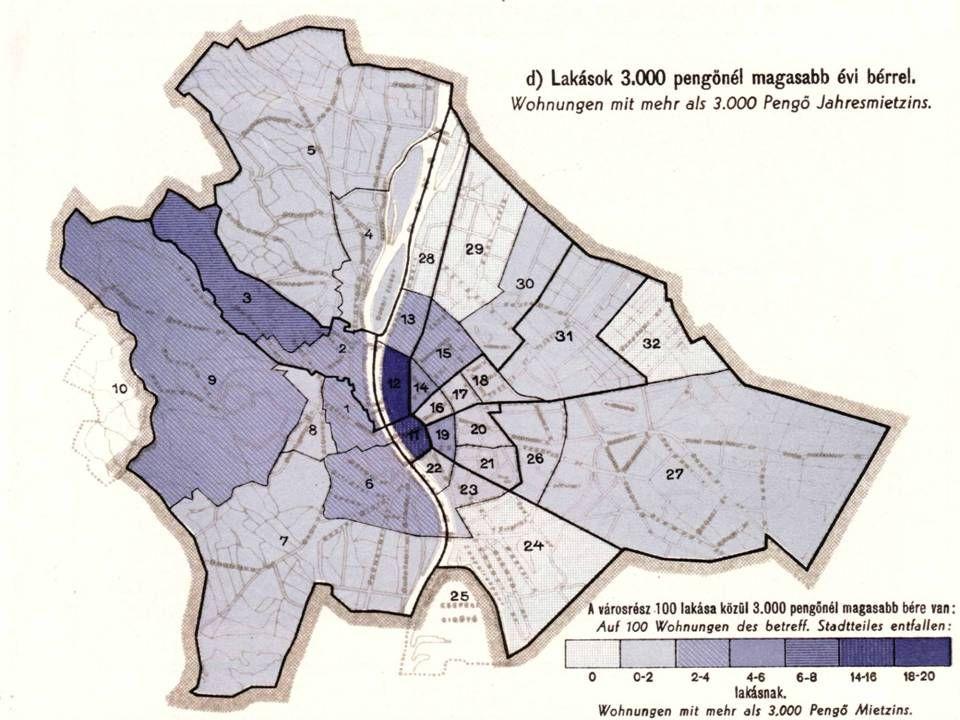 Népességfogyás a belső városrészekben … … már a 20. század elején jelentős mértékű