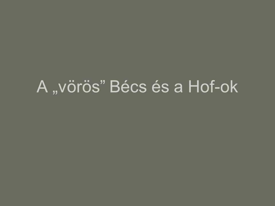 """A """"vörös Bécs és a Hof-ok"""
