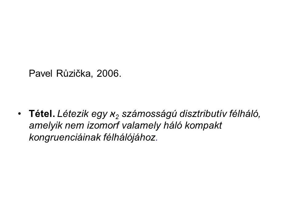 Pavel Růzička, 2006. Tétel.