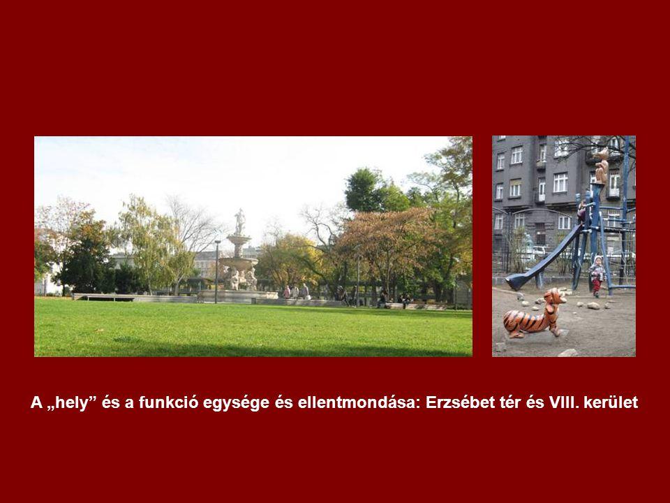 """A """"hely és a funkció egysége és ellentmondása: Erzsébet tér és VIII. kerület"""