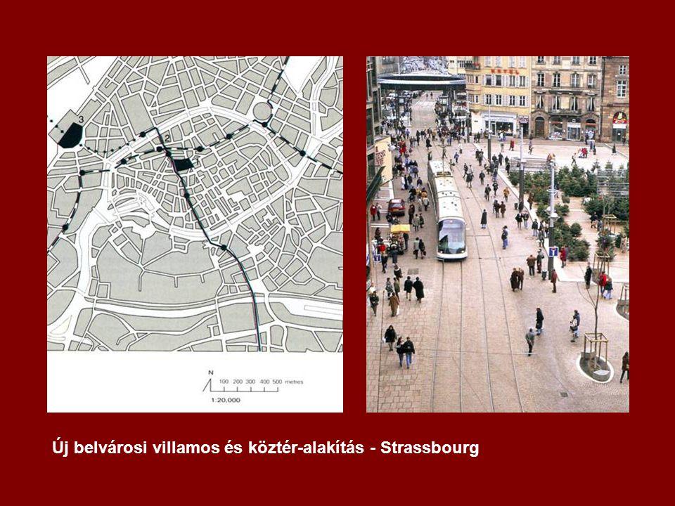 Új belvárosi villamos és köztér-alakítás - Strassbourg