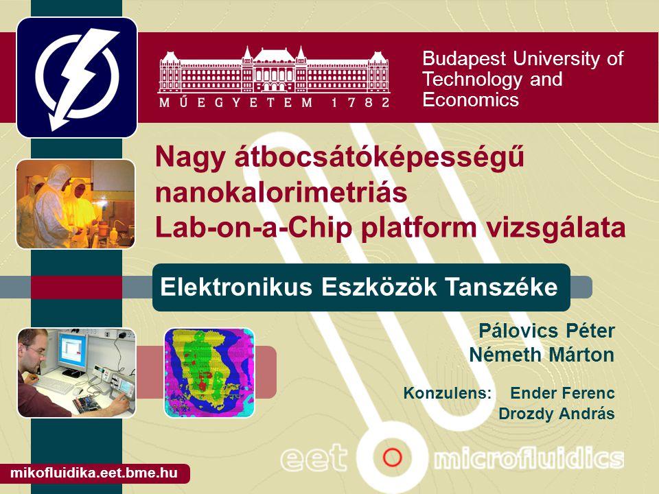 Budapest University of Technology and Economics Elektronikus Eszközök Tanszéke mikofluidika.eet.bme.hu Nagy átbocsátóképességű nanokalorimetriás Lab-o