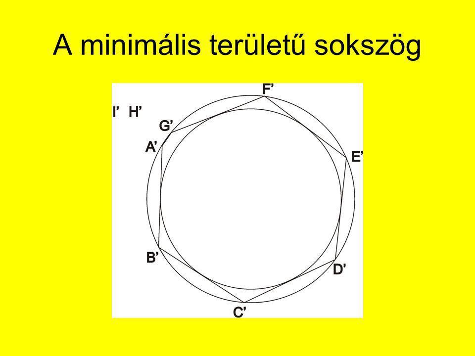 A minimális területű sokszög