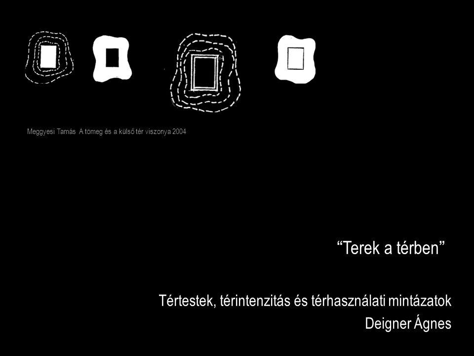 """""""Terek a térben"""" Tértestek, térintenzitás és térhasználati mintázatok Deigner Ágnes Meggyesi Tamás A tömeg és a külső tér viszonya 2004"""