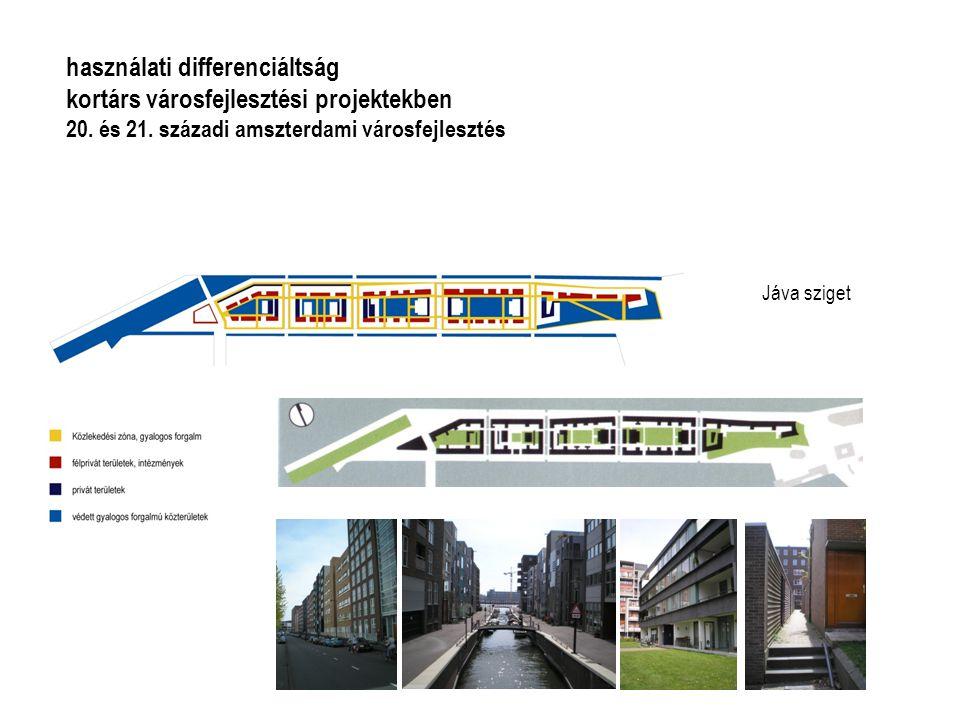 Jáva sziget használati differenciáltság kortárs városfejlesztési projektekben 20. és 21. századi amszterdami városfejlesztés