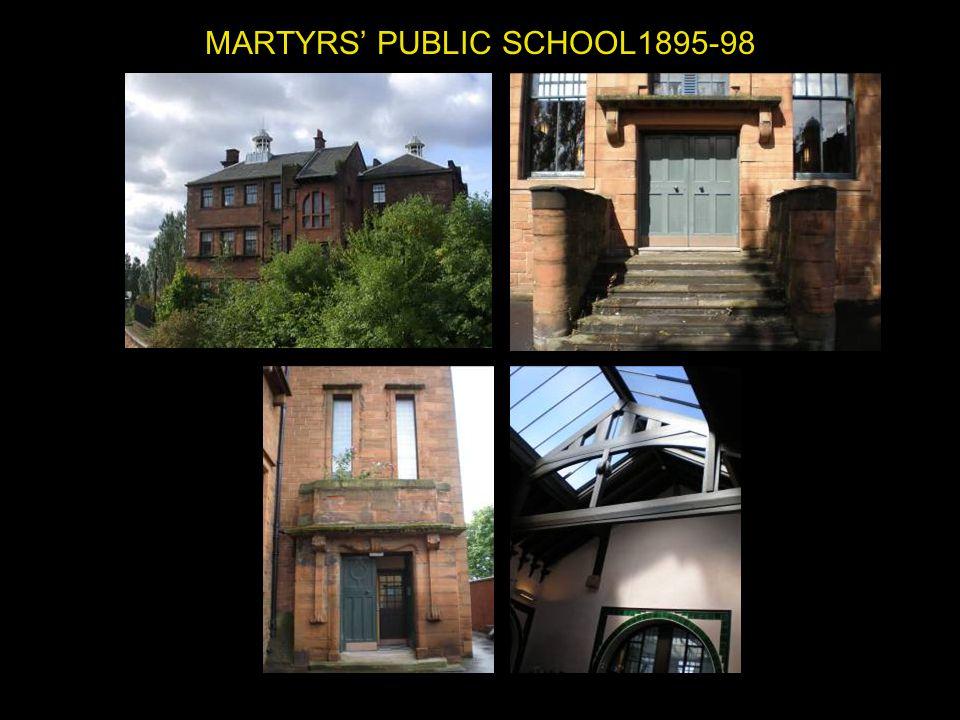 MARTYRS' PUBLIC SCHOOL1895-98