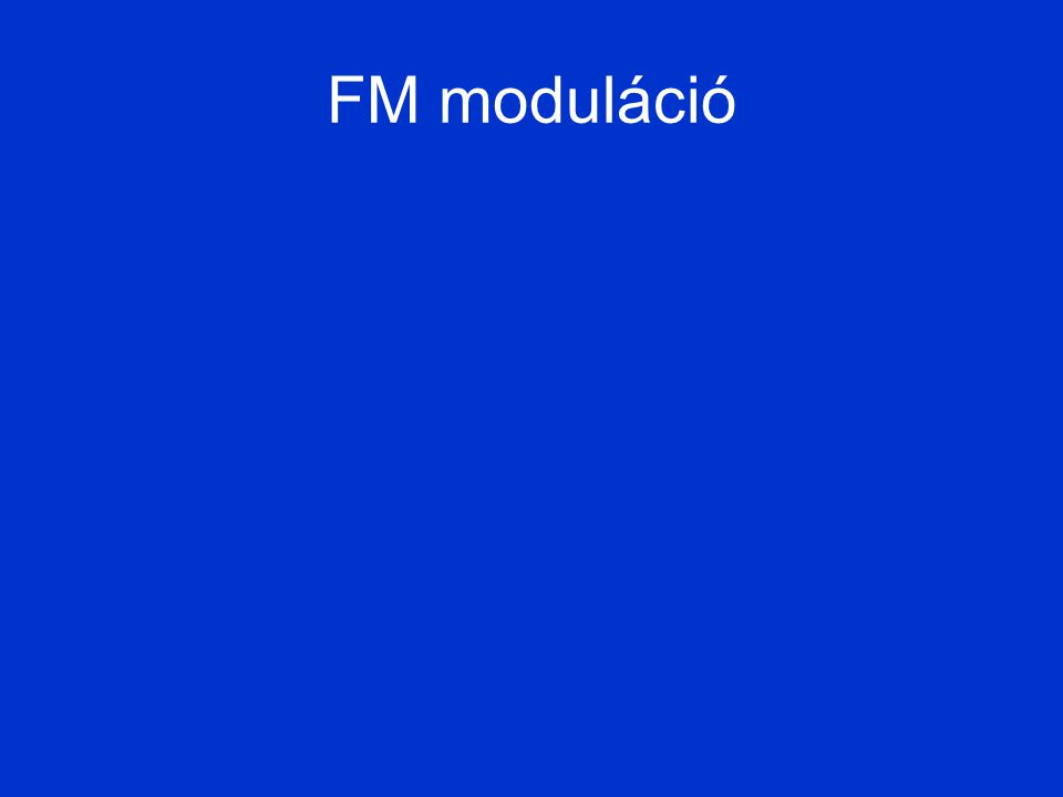 FM moduláció