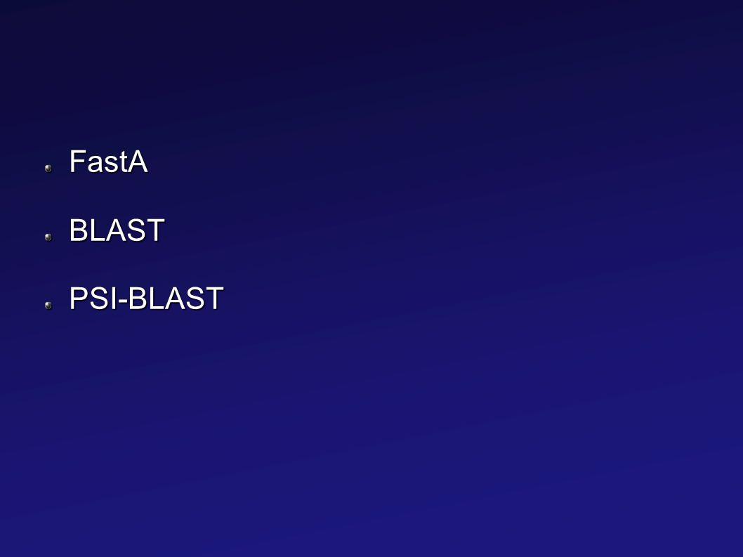 FastABLASTPSI-BLAST