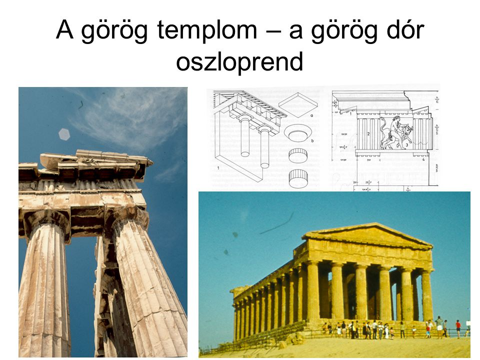 A görög templom – a görög dór oszloprend