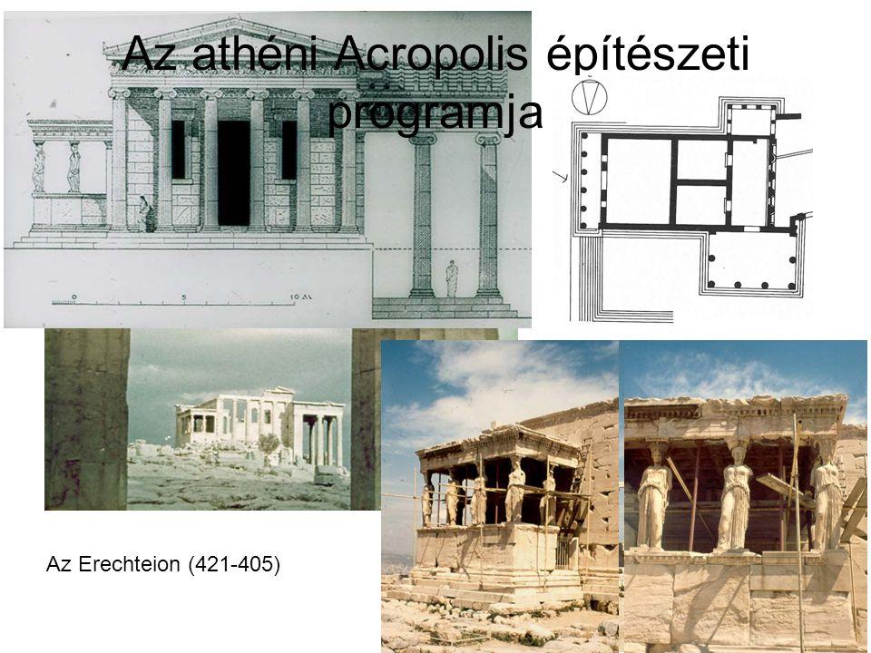 Az athéni Acropolis építészeti programja Az Erechteion (421-405)