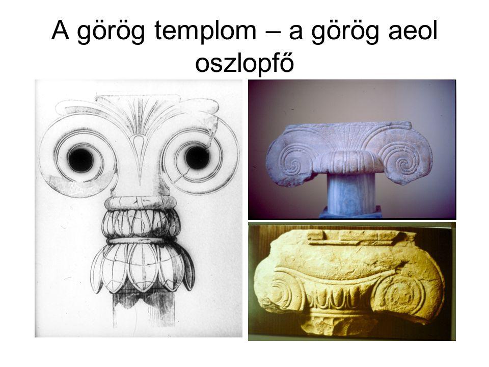A görög templom – a görög aeol oszlopfő