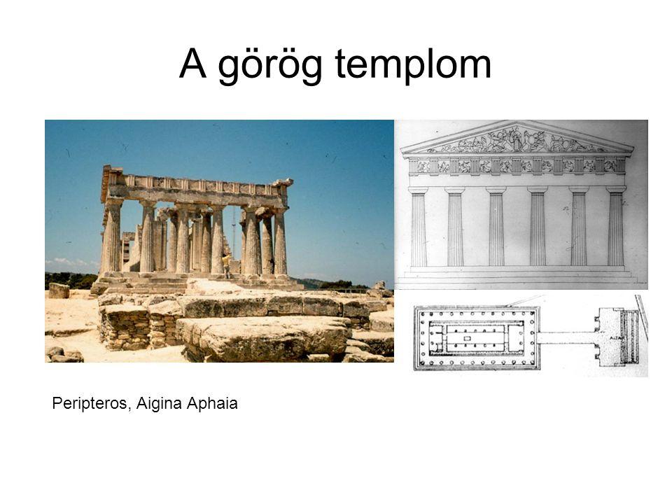 A görög templom – területi sajátosságok Az anyaországi típus Keleti hellén típusNyugati hellén