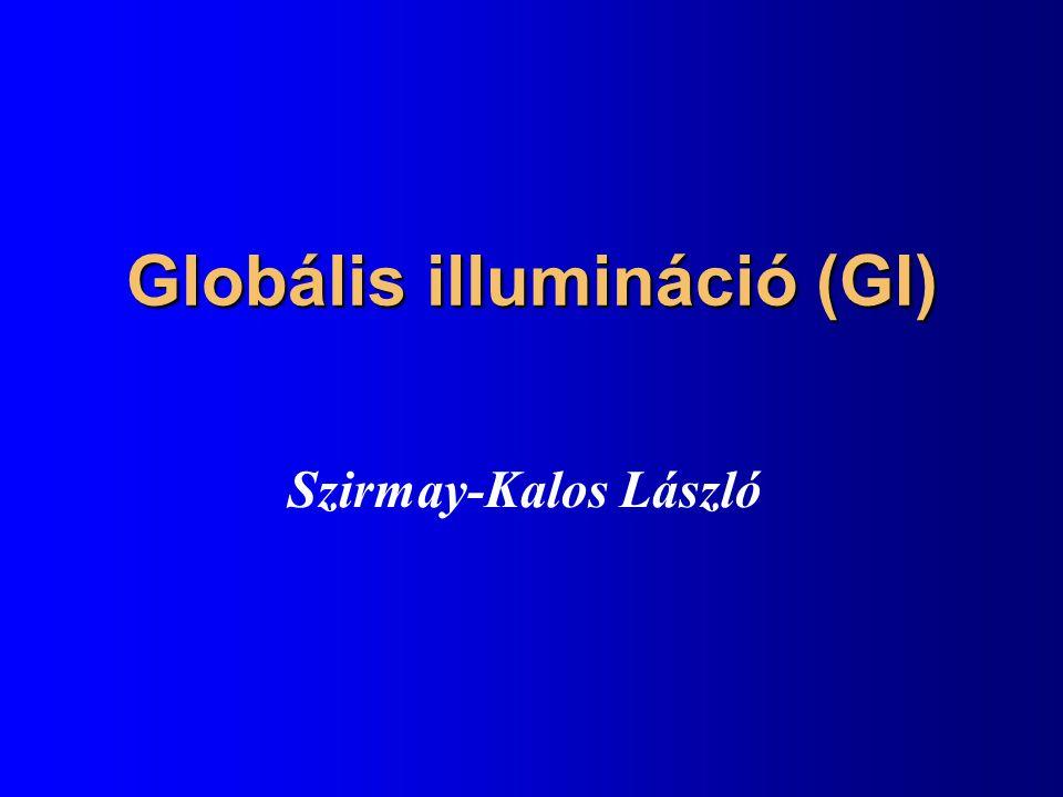 Globális illumináció (GI) Szirmay-Kalos László