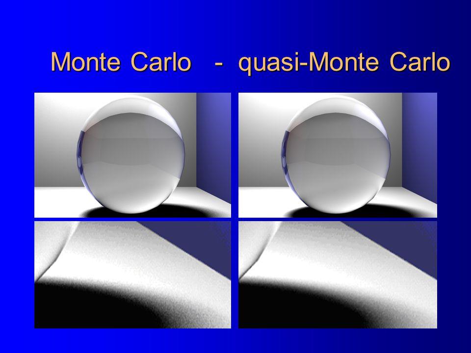 Monte Carlo - quasi-Monte Carlo